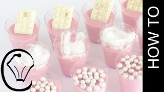Cotton Candy Panna Cotta Shot Glass Mini Dessert by Cupcake Savvy&#39s Kitchen