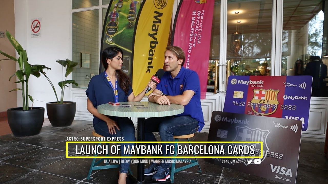 Astro Supersport Express  Launch of Maybank FC Barcelona Cards - YouTube a35282bc2ef