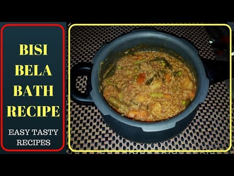 Bisi bele bath/sambar sadam in (pressure cooker) recipe in tamil