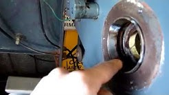 Removing Taper bearing outer races with a tig welder in a lathe, car etc