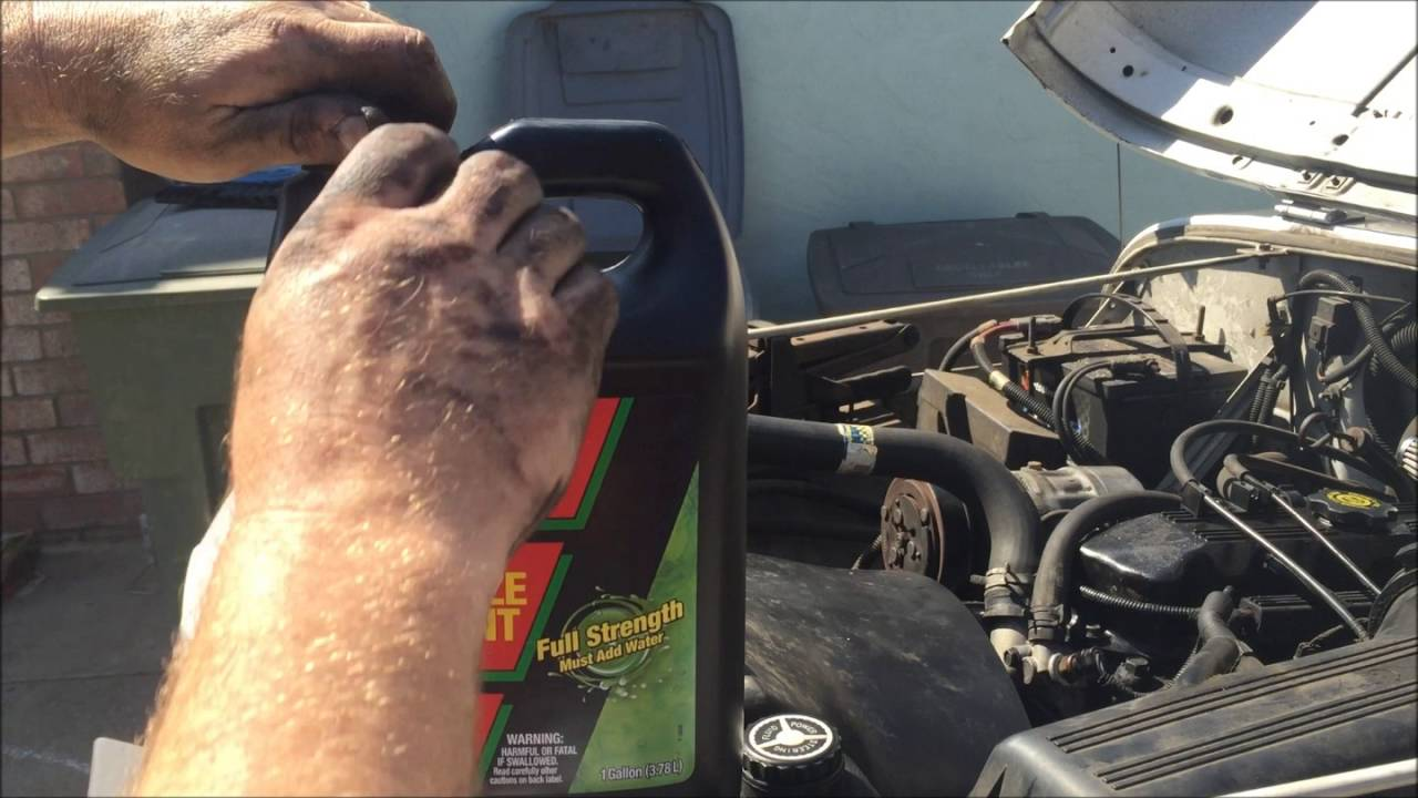 Radiator Coolant Change Out 95 Jeep Wrangler Youtube Engine
