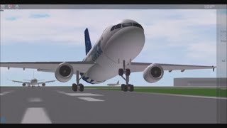 Watching Planes takeoff at Serenity Intl. Airport (A Place With Airliners) ROBLOX