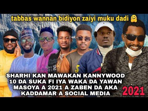 Download Sharhi kan Mawakan kannywood 10 da suka fi iya waka a 2021 a zaben da akayi a social media da kuma 1