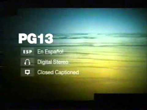 5/7/2005 Encore Feature Presentation Intro and PG-13 Rating Bumper