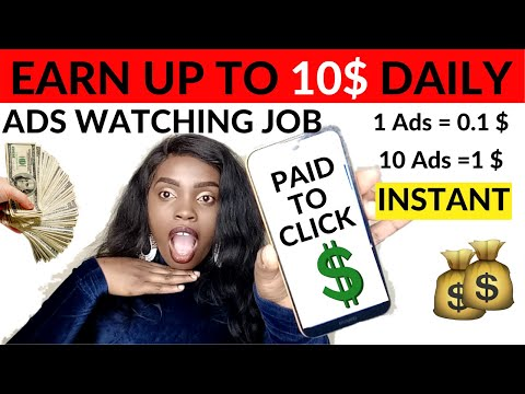 GET PAID TO WATCH ADS! How to Earn Money By Clicking Ads (EASY MONEY)