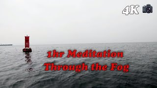 1 hr Meditation With Ocean Sounds - Through the Clouds to Palos Verdes