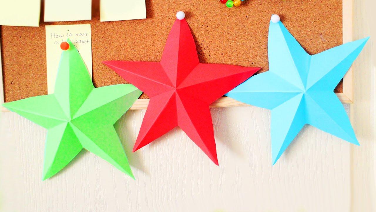 Diy 3d Origami Yildiz Yapimi Nasil Yapilir Kendin Yap Cok