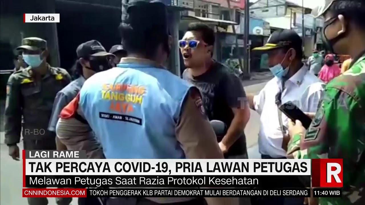 Tak Percaya Covid 19 Pria Lawan Petugas | REDAKSI SIANG (05/03/21)