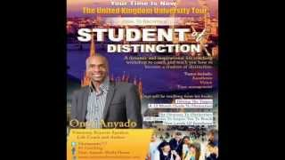 Onyi Anyado: Testimonials from Your Time Is Now: How to become a student of distinction™ UK Tour