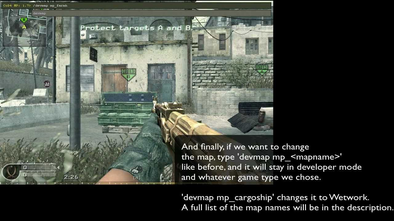 CoD4 Cosole Commands: Changing Map & Mode - YouTube on
