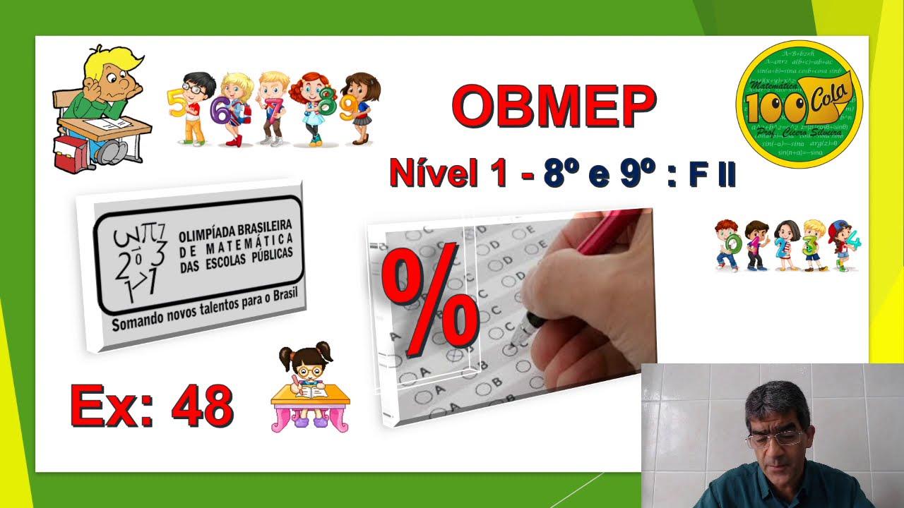 OBMEP - FASE 1 - 8 E 9 ANOS - AULA 48