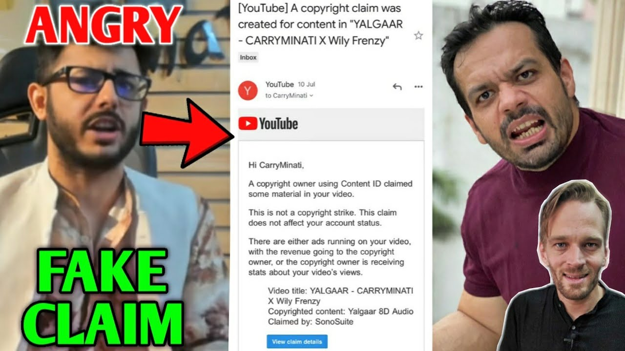 CarryMinati Gets FAKE CLAIM On Yalgaar Song - ANGRY | Flying Beast Subs Glitch, Karl Rock | Neon Man