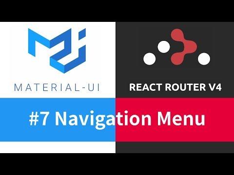 Material-UI + React Router - #7 Navigation Menu - YouTube