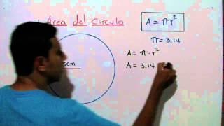 Como calcular el área de un circulo. Ejemplo 1 thumbnail