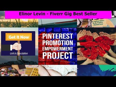 Pinterest Promotion on fiverr  - Elinor Levin - Fiverr Gig - Pinterest Promotion on fiverr