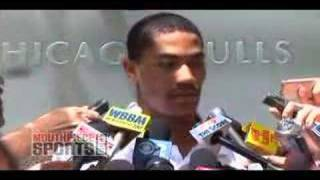 Chicago Bulls Rookie Derrick Rose Meets the Press-Part 1