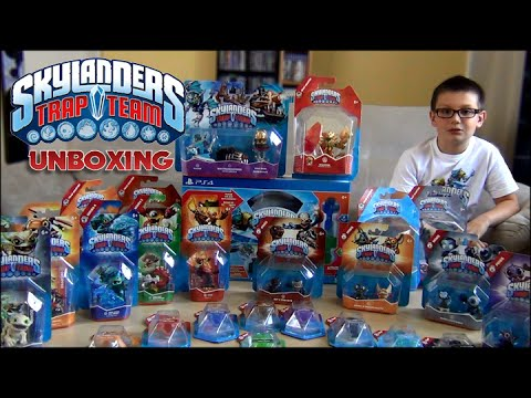 skylanders trap team lincroyable unboxing collection - Tous Les Skylanders