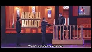 Salman Khan and Shahrukh Khan and Rajat Sharma in AAP ki adalat...............