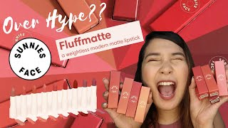 is it worth the HYPE? SUNNIES FACE FLUFFMATTE LIPSTICK Swatches
