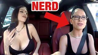 Nerd Uber Driver Raps Fast In 250,000$ Car!