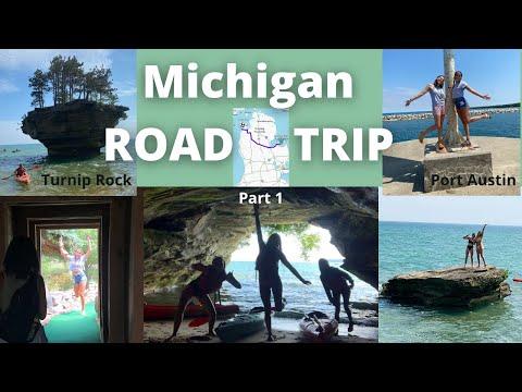 Michigan ROADTRIP with the girls -Part 1- {Port Austin, Turnip Rock, Mini Golf, Go Karts, and More!}