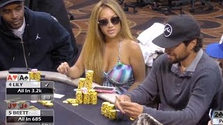 Lily Kiletto Steamrolls the Table ♠ Hand of the Night ♠ Live at the Bike!