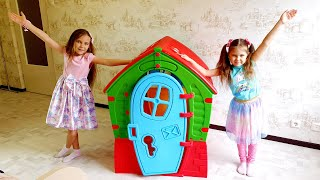 Colorful Playhouse for kids by Elina and Julia funny girls