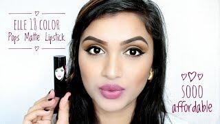 Elle 18 Color Pops Matte Lipstick | Swatches & Review | BeautiCo.