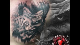 Tattooing Joker Portrait With Marco Pikass