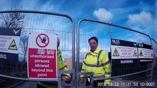 Third Energy abusive security at KM8 site in Kirby Misperton North Yorkshire