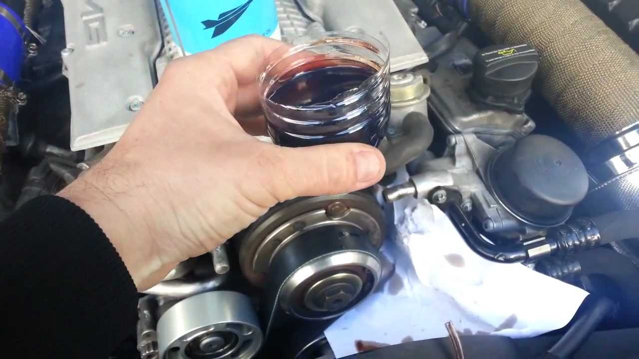 How to change your supercharger oil m113k-ml55 Mercedes ...