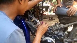 cara setting karbu motor 2 tak
