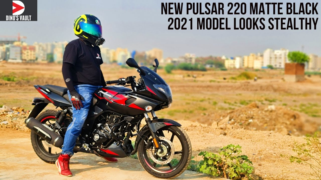 Download 2021 Pulsar 220F New Matte Black City Ride Review Matte Blue and White Color