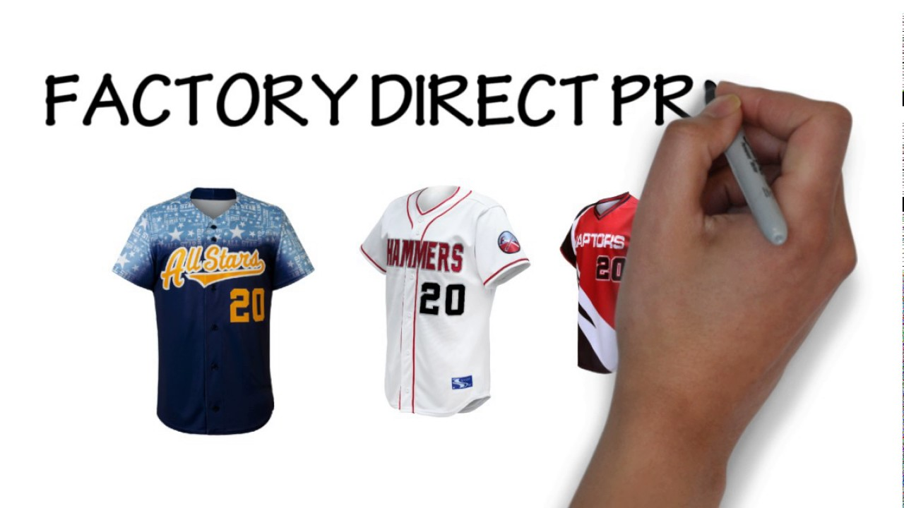 Make Your Own Baseball Jersey - YouTube