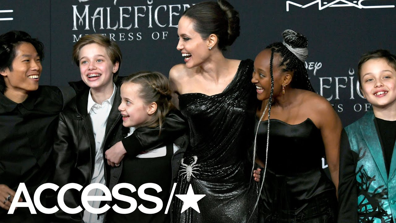 Angelina Jolie Kids Look So Grown Up At Maleficent 2 Premiere In Rare Public Outing
