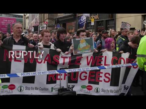 UK: Far-right EDL rally against 'Sharia law'… 'genital mutation' in Newcastle