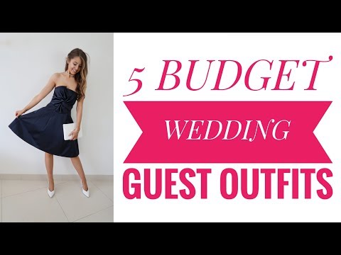 5 Budget Wedding Guest Outfits : LOOKBOOK & Try on PRIMARK, H&M, NEW LOOK!