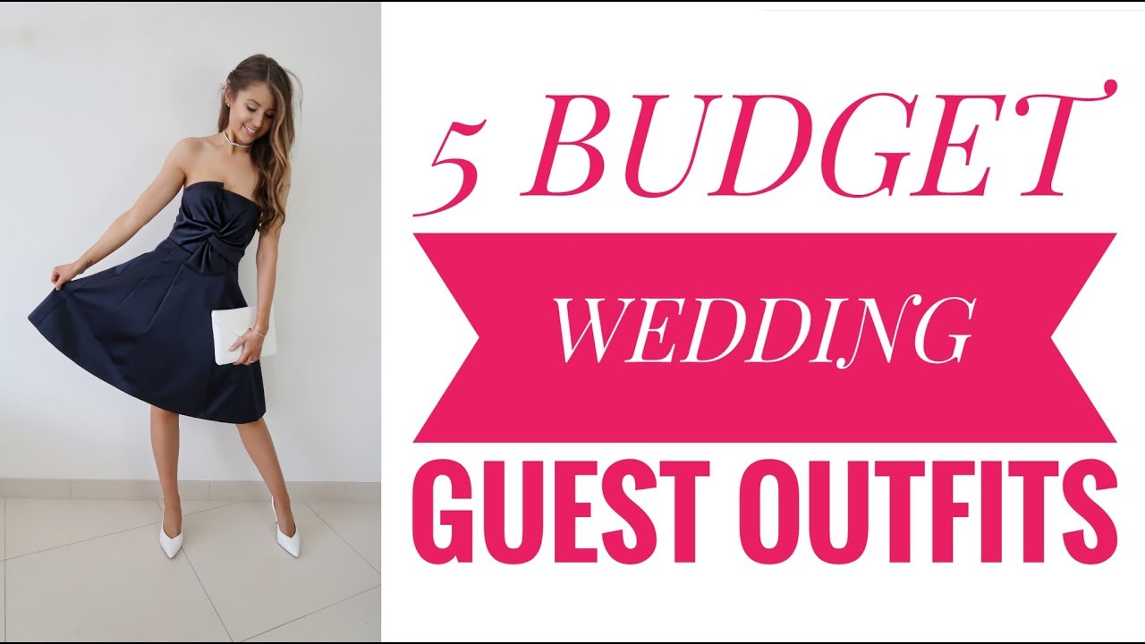 5 Budget Wedding Guest Outfits Lookbook Try On Primark H M New Look
