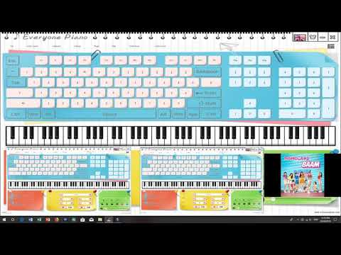 ♪ MOMOLAND /모모랜드 Sings BAAM Along With My Piano (EOP Cover) ♪