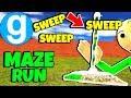 Brand New Gotta Sweep! Baldi's Basics in Education and Learning Maze Run #2 Gmod Garry's Mod