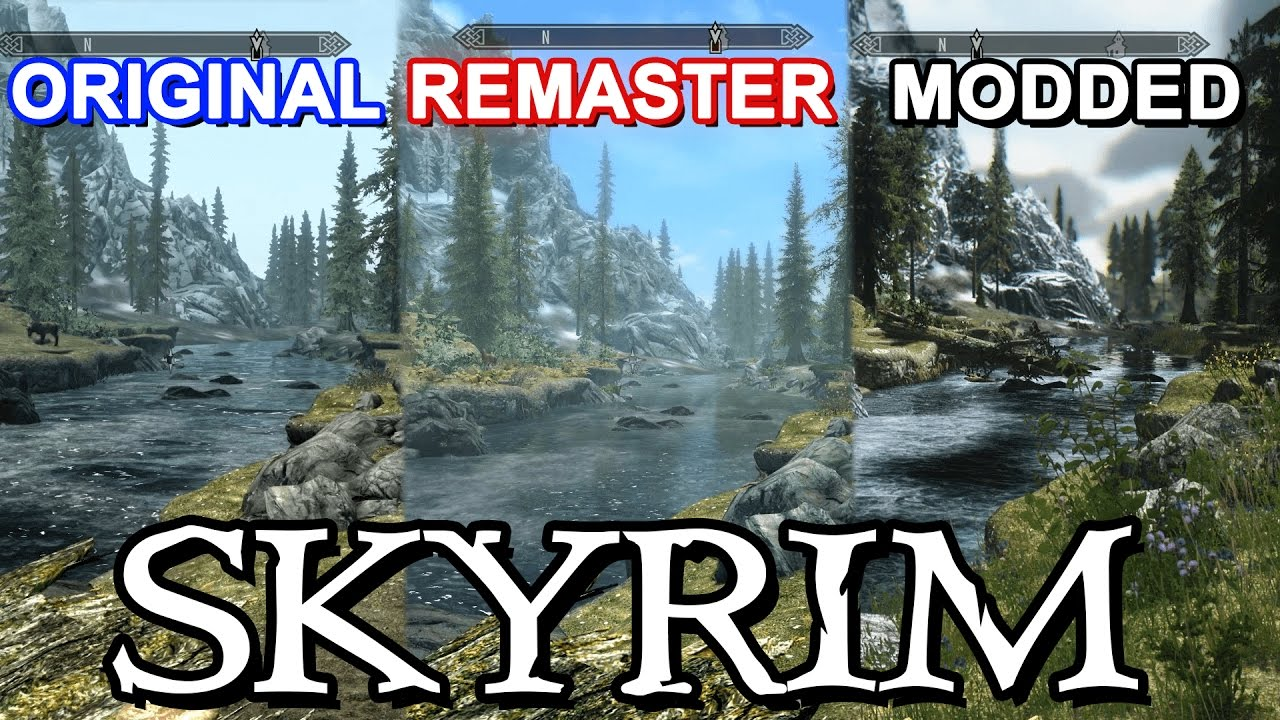 Skyrim special edition vs. Original pc graphics comparison youtube.