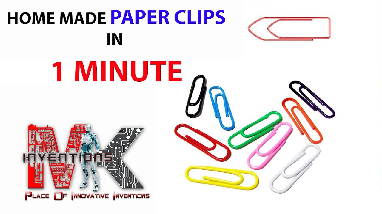 Paper Clips With Binding Wire Home Made Youtube Basic Household Wiring Clip Art