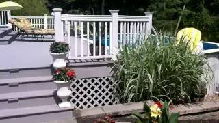 Above Ground Pool Deck Ideas (Sloping backyard)
