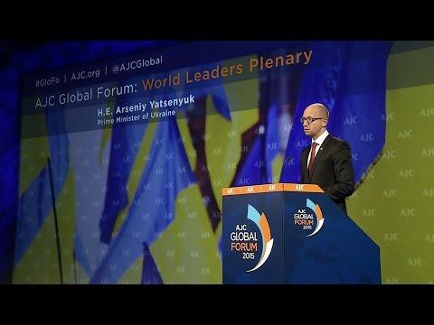 AJC Global Forum: Arseniy Yatsenyuk, Prime Minister of Ukraine