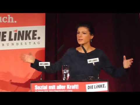 Sahra Wagenknecht über eine grundfalsche deutsche Aussenpolitik (Leipzig, 22.02.2018)