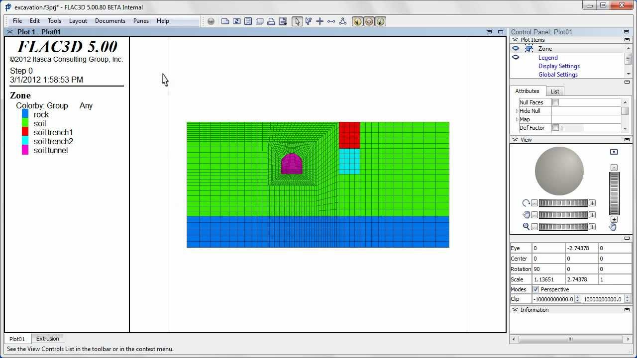 flac3d 5 0 a simple extrusion demo youtube rh youtube com FLAC Software Itasca Software