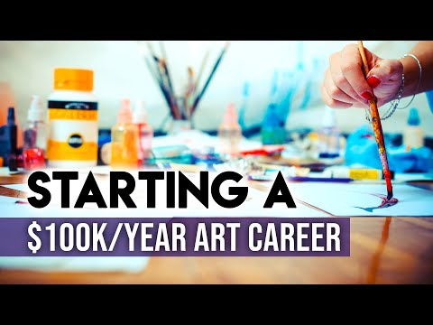 Starting an Art Career in 2020 from NOTHING - $0 TO $100K/YEAR!