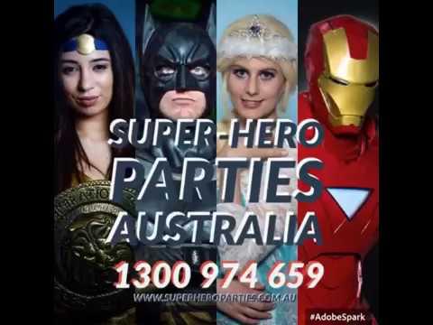 Super-Hero Parties Australia - Deadpool, Spider-Man & Iron-Man