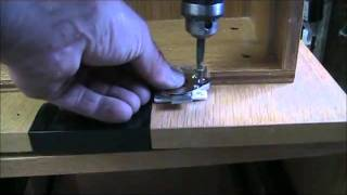 Install Simple C D Or Drawer Lock On Wood Drawer Filing Cabinet