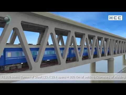 How the 3rd Longest Bridge of India on the Mighty Brahmaputra was built?